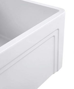 Empire Industries OL27G Olde London Reversible Farmhouse Fireclay Kitchen Sink With Grid And Strainer White 0 1 300x360