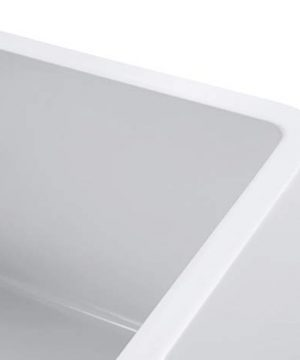Empire Industries OL27G Olde London Reversible Farmhouse Fireclay Kitchen Sink With Grid And Strainer White 0 3 300x360