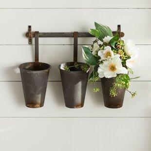 Farm+Metal+Wall+Rack+and+3+Tin+Pot+with+Hanger+Wall+Decor