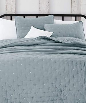 Great Bay Home 3 Piece Dot Stitch Quilt Set With Shams Stormy Sea Dot King Quilt Set All Season Bedspread Quilt Set Athena Collection King Stormy Sea 0 0 300x360