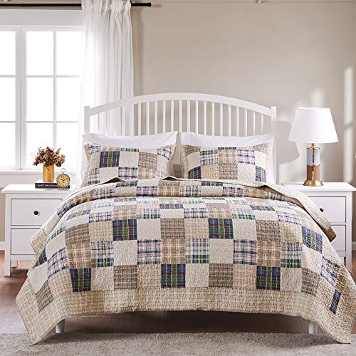 Greenland Home 3 Piece Oxford Quilt Set FullQueen Multicolor 0 0