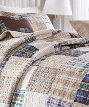 Greenland Home 3 Piece Oxford Quilt Set FullQueen Multicolor 0 1 300x360