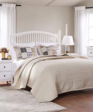 Greenland Home 3 Piece Oxford Quilt Set FullQueen Multicolor 0 3 300x360