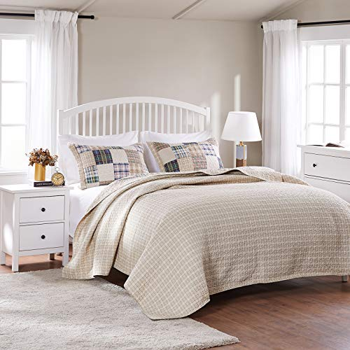 Greenland Home 3 Piece Oxford Quilt Set FullQueen Multicolor 0 3