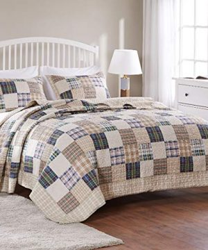 Greenland Home 3 Piece Oxford Quilt Set FullQueen Multicolor 0 300x360