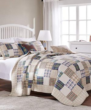 Greenland Home 3 Piece Oxford Quilt Set FullQueen Multicolor 0 4 300x360