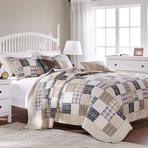 Greenland Home 3 Piece Oxford Quilt Set FullQueen Multicolor 0 4