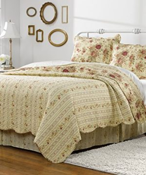 Greenland Home Antique Rose Twin Quilt Set 0 0 300x360