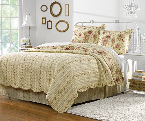 Greenland Home Antique Rose Twin Quilt Set 0 0