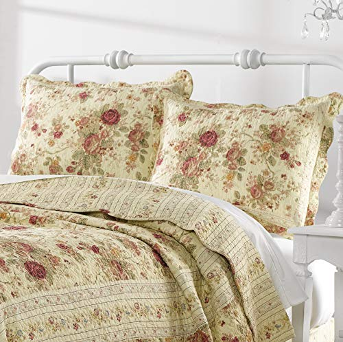 Greenland Home Antique Rose Twin Quilt Set 0 2