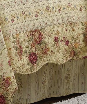 Greenland Home Antique Rose Twin Quilt Set 0 3 300x360