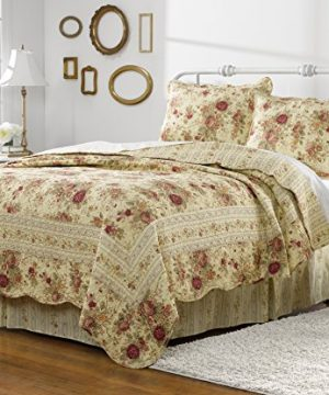 Greenland Home Antique Rose Twin Quilt Set 0 300x360