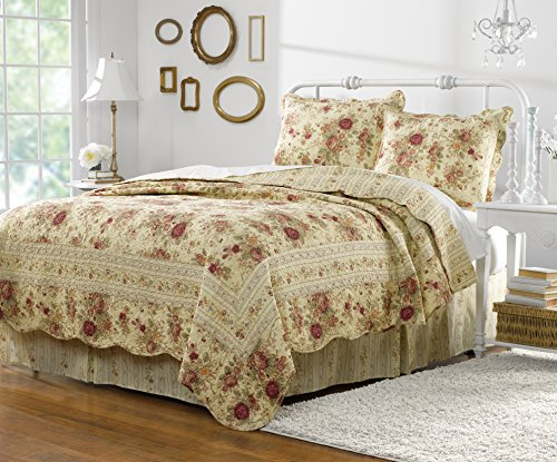 Greenland Home Antique Rose Twin Quilt Set 0