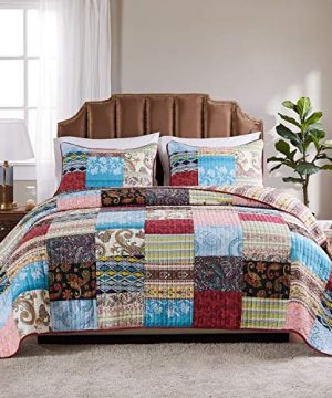 Greenland Home Bohemian Dream Quilt Set 2 Piece TwinTwin XL 0 300x360