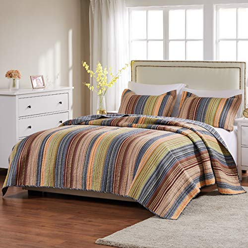 Greenland Home Katy Quilt Set Twin Natural 0 0