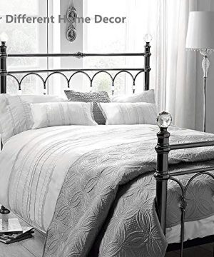 HORIMOTE HOME Duvet Cover Full White Luxury Embellished Trim Detailing100 Cotton Calssic Percale WovenSoft Crisp Breathable Durable Bed Cover 80 X 90 0 3 300x360