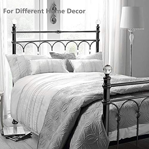 HORIMOTE HOME Duvet Cover Full White Luxury Embellished Trim Detailing100 Cotton Calssic Percale WovenSoft Crisp Breathable Durable Bed Cover 80 X 90 0 3