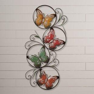 Ila+Metal+Butterfly+Wall+Décor