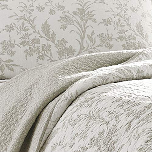 Laura Ashley Home Amberley Collection Luxury Premium Ultra Soft Quilt Coverlet Comfortable 3 Piece Bedding Set All Season Stylish Bedspread King Biscuit 0 2