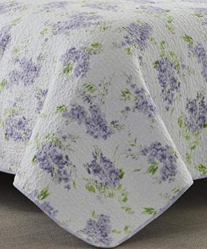 Laura Ashley Home Keighley Collection Luxury Premium Ultra Soft Quilt Coverlet Comfortable 2 Piece Bedding Set All Season Stylish Bedspread Twin Lilac 0 1 300x360