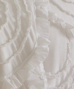 Levtex Home Allie King Cotton Quilt Set White Ruched Ruffles 0 0 300x360