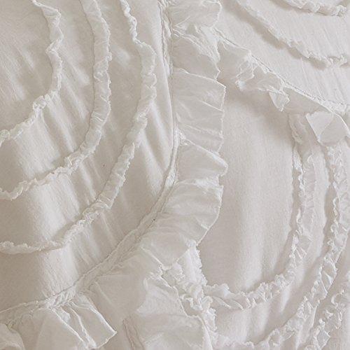 Levtex Home Allie King Cotton Quilt Set White Ruched Ruffles 0 0