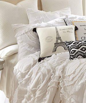 Levtex Home Allie King Cotton Quilt Set White Ruched Ruffles 0 1 300x360