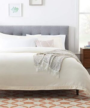 Linenspa Microfiber Duvet Cover Three Piece Set Includes Duvet Cover And Two Shams Soft Brushed Microfiber Hypoallergenic Cream Full 0 3 300x360