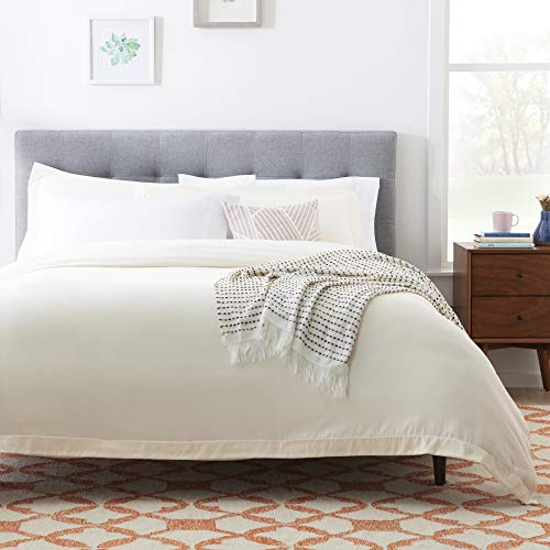 Linenspa Microfiber Duvet Cover Three Piece Set Includes Duvet Cover And Two Shams Soft Brushed Microfiber Hypoallergenic Cream Full 0 3