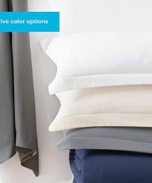 Linenspa Microfiber Duvet Cover Three Piece Set Includes Duvet Cover And Two Shams Soft Brushed Microfiber Hypoallergenic Cream Full 0 4 300x360