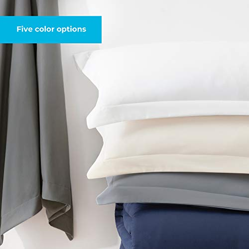 Linenspa Microfiber Duvet Cover Three Piece Set Includes Duvet Cover And Two Shams Soft Brushed Microfiber Hypoallergenic Cream Full 0 4