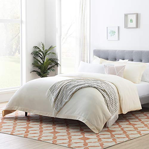 Linenspa Microfiber Duvet Cover Three Piece Set Includes Duvet Cover And Two Shams Soft Brushed Microfiber Hypoallergenic Cream Full 0
