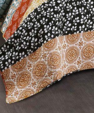 Lush Decor Bohemian Striped Quilt Reversible 3 Piece Bedding Set King Turquoise 0 4 300x360