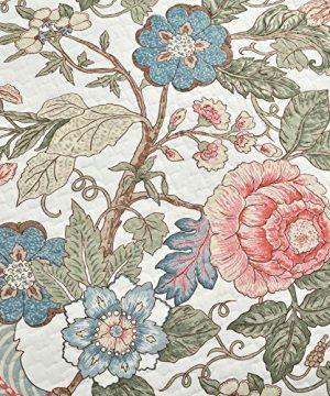 Lush Decor Floral Leaf Sydney 3 Piece Quilt Set Reversible Bedding FullQueen 0 1 300x360