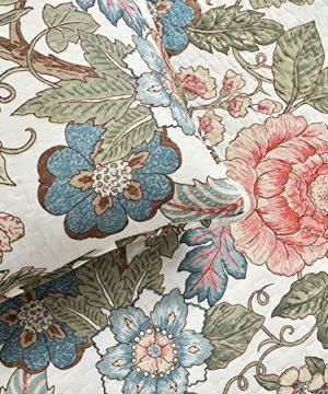 Lush Decor Floral Leaf Sydney 3 Piece Quilt Set Reversible Bedding FullQueen 0 3 300x360