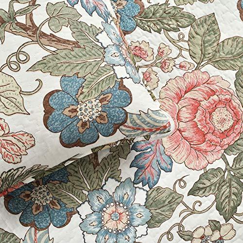 Lush Decor Floral Leaf Sydney 3 Piece Quilt Set Reversible Bedding FullQueen 0 3