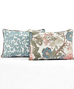 Lush Decor Floral Leaf Sydney 3 Piece Quilt Set Reversible Bedding FullQueen 0 4 300x360