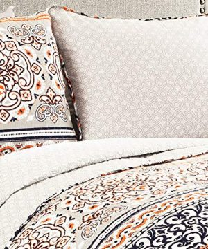 Lush Decor Nesco Quilt Striped Pattern Reversible 3 Piece Bedding Set King Navy And Coral 0 0 300x360