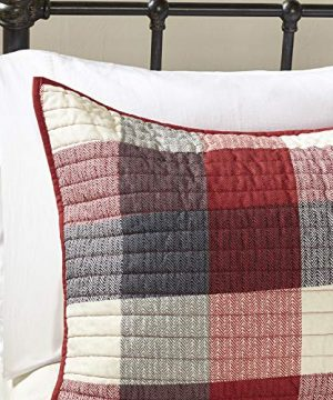 Madison Park Ridge FullQueen Size Quilt Bedding Set Red Plaid 6 Piece Bedding Quilt Coverlets Ultra Soft Microfiber Bed Quilts Quilted Coverlet 0 2 300x360