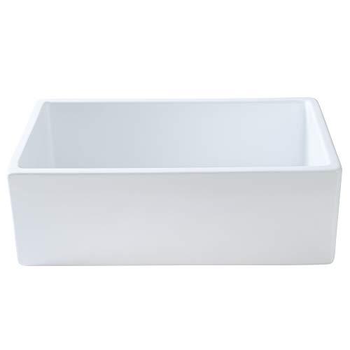 Mayfair SW1 30 Inch Kitchen Farmhouse Sink Fireclay White 0 0