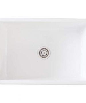 Mayfair SW1 30 Inch Kitchen Farmhouse Sink Fireclay White 0 3 300x360