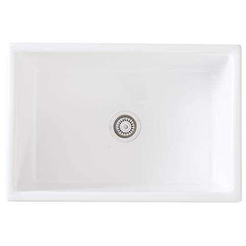 Mayfair SW1 30 Inch Kitchen Farmhouse Sink Fireclay White 0 3