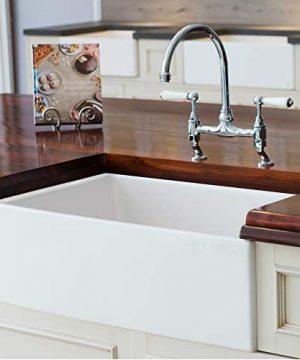 Mayfair SW1 30 Inch Kitchen Farmhouse Sink Fireclay White 0 300x360