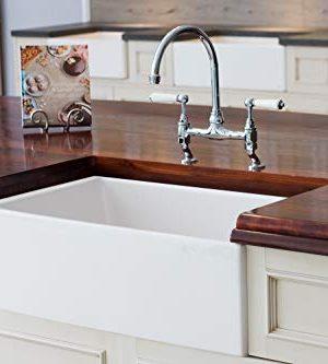 Mayfair SW1 30 Inch Kitchen Farmhouse Sink Fireclay White 0 4 300x333