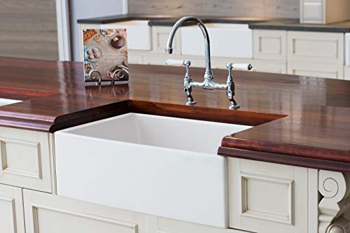 Mayfair SW1 30 Inch Kitchen Farmhouse Sink Fireclay White 0 4