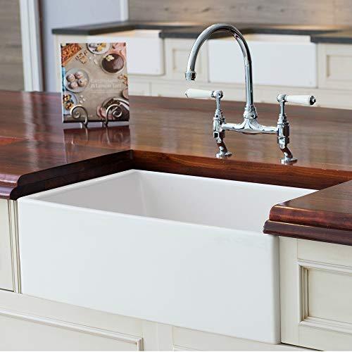 Mayfair SW1 30 Inch Kitchen Farmhouse Sink Fireclay White 0