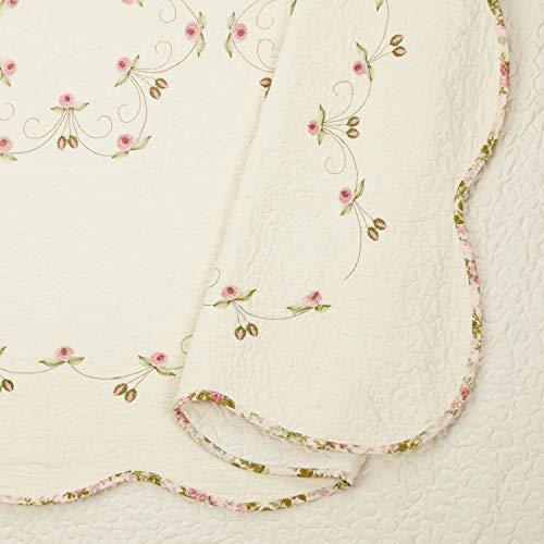 Modern Heirloom Collection Felisa Quilt Set Full Queen Pink 0 1