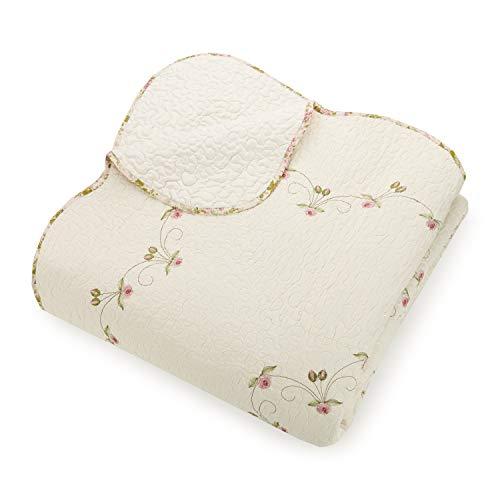Modern Heirloom Collection Felisa Quilt Set Full Queen Pink 0 2