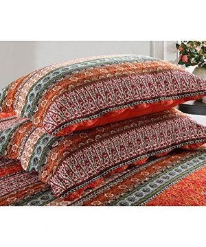 NEWLAKE Striped Classical Cotton 3 Piece Patchwork Bedspread Quilt Sets King Size 0 2 300x360