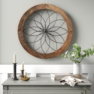 Round+Medallion+Wood+and+Metal+Wall+Décor
